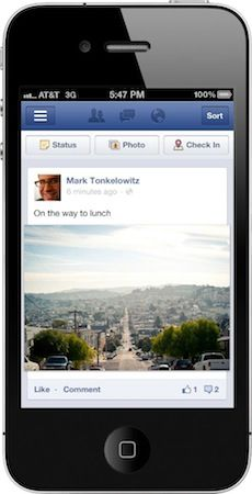 Facebook redesigns mobile site and apps, takes a tip (or two) from Instagram