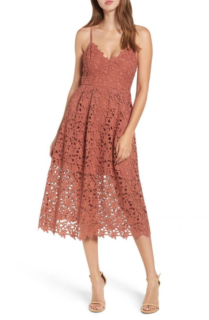What To Wear To A Spring Wedding 2018 Spring Wedding Guest Dresses Junebug Weddings Lace Midi Dress Spring Wedding Guest Dress Guest Dresses
