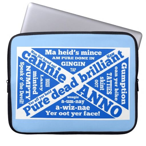 Scottish slang and jargon St Andrews's Cross flag Laptop Computer Sleeve