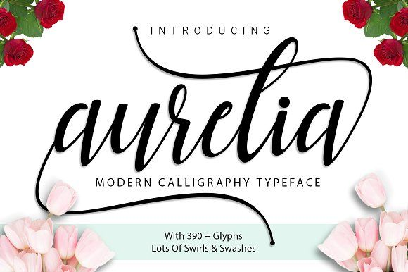 Aurelia Script by ximents on @creativemarket