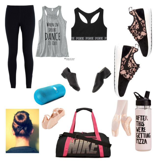 """Dance practice outfit"" by leelee327 on Polyvore featuring Victoria's Secret, NIKE, Bloch and Beats by Dr. Dre"