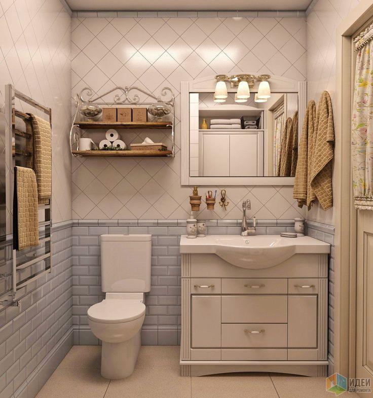 Интерьер ванной комнаты в стиле кантри