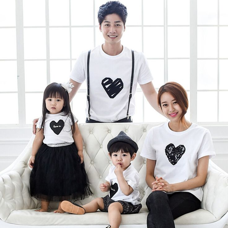 1pc Retail 2016 Family Look T-shirts Father Son Mother Daughter Summer Matching…
