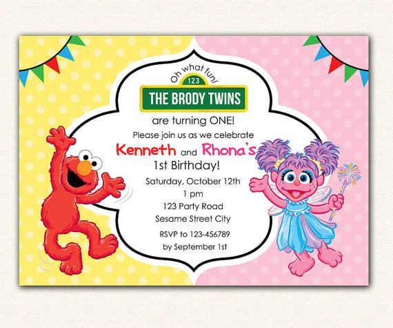 9 best Ideas for kids birthday party images – Elmo Party Invitations Printable