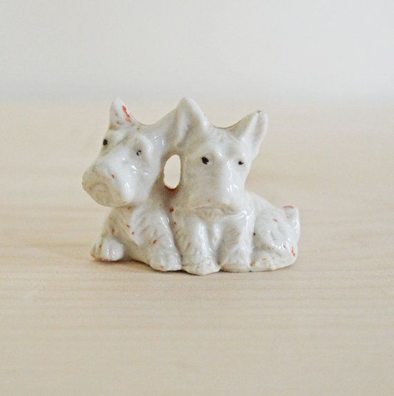 Summer Sale Vintage Scottie Dog Ceramic Figurine Scottish