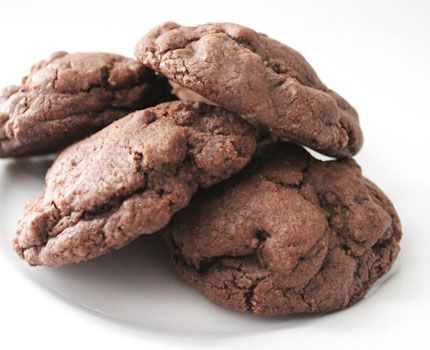 double chocolate chunk cookies. | Cooking for One | Pinterest
