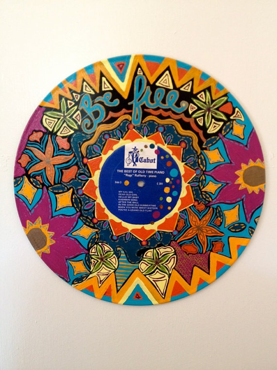 Pin By Kait Mears On Art Design Vinyl Record Crafts Record Crafts Vinyl Painted