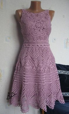 d68ba0c152 Crochet beautiful dress | Sewing, Crocheting and other ideas ...