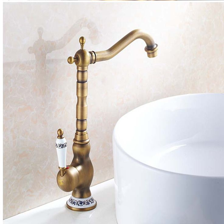 Antique Brass Hot and Cold Water Bathroom Faucet //Price: $140.00 & FREE Shipping //     #SpaBath #ModernShowerIdeas