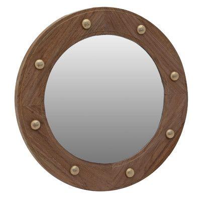 SeaTeak Porthole Mirror & Reviews | Wayfair