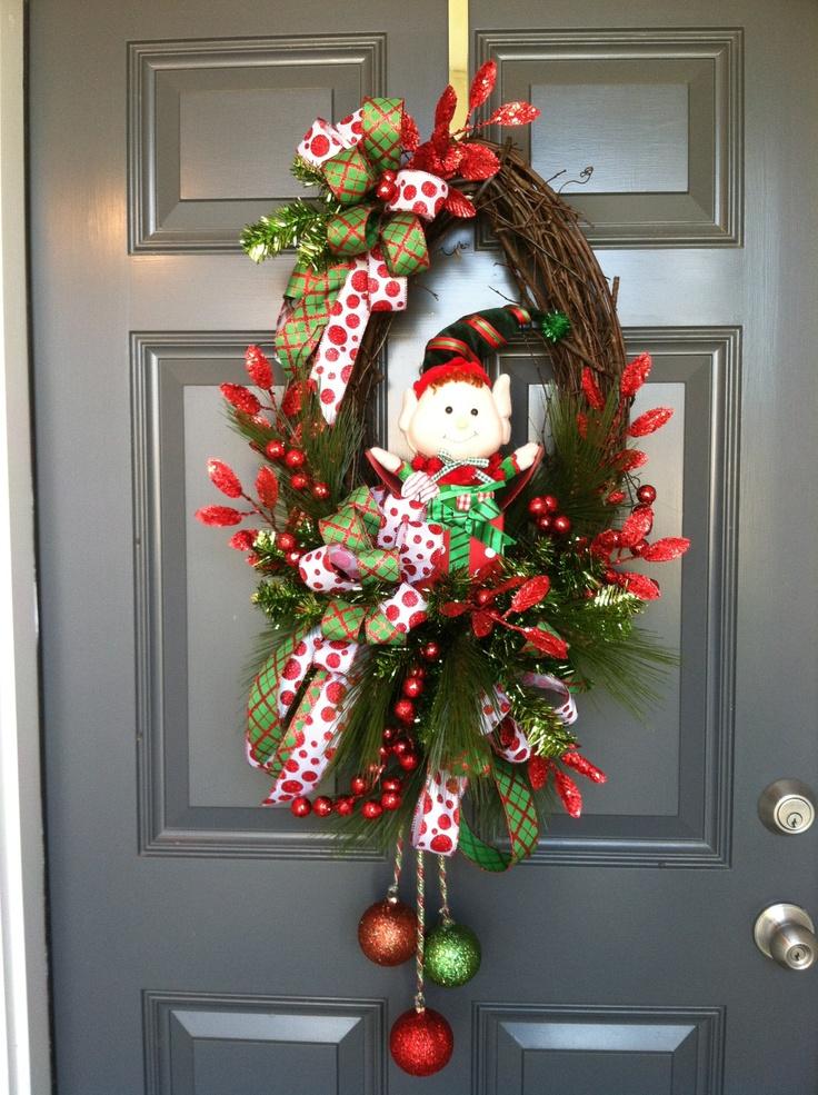 10 best images about door wreath ideas on pinterest. Black Bedroom Furniture Sets. Home Design Ideas