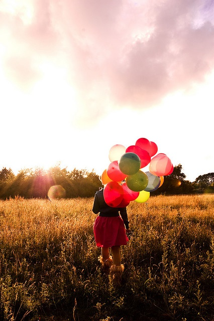 I want to do a photo shoot with balloons