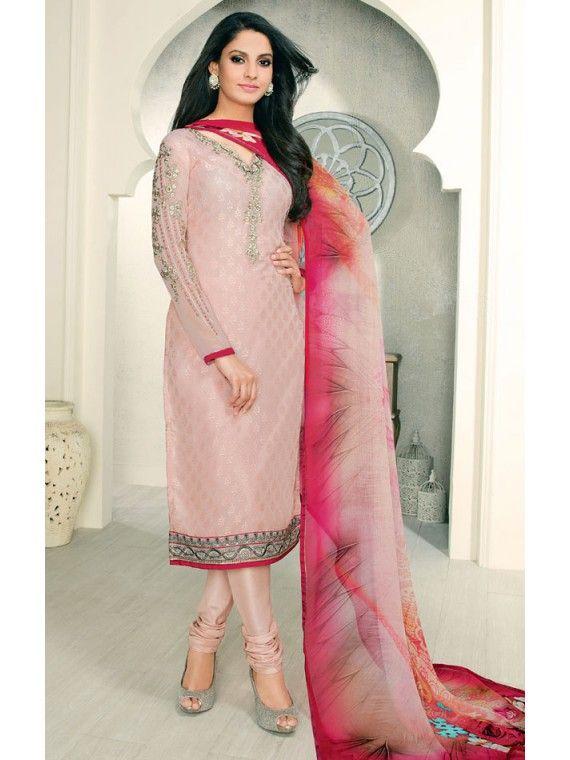 Admirable Light Pink and Dark Pink Online salwaar Suit