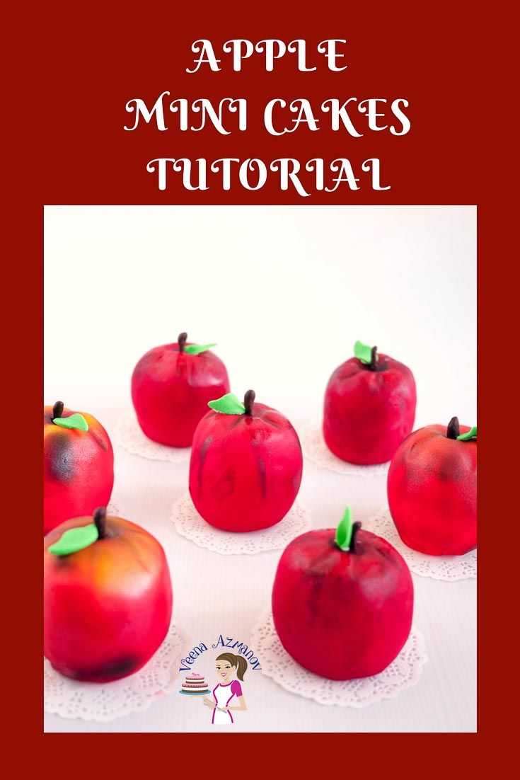 Fondant apple cupcakes tutorials how to make apple cupcakes.