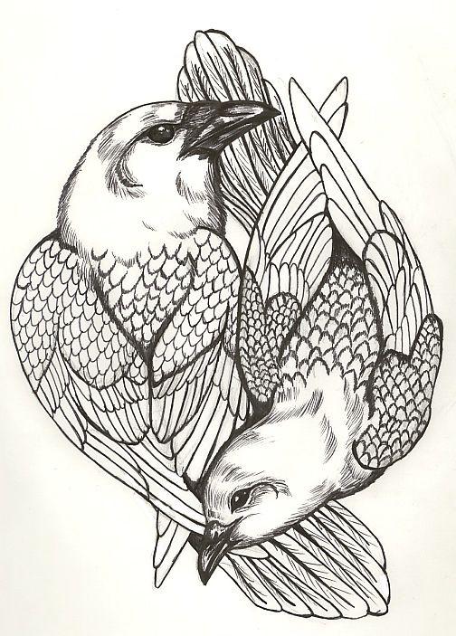 yin and yang owl tattoo - Google Search