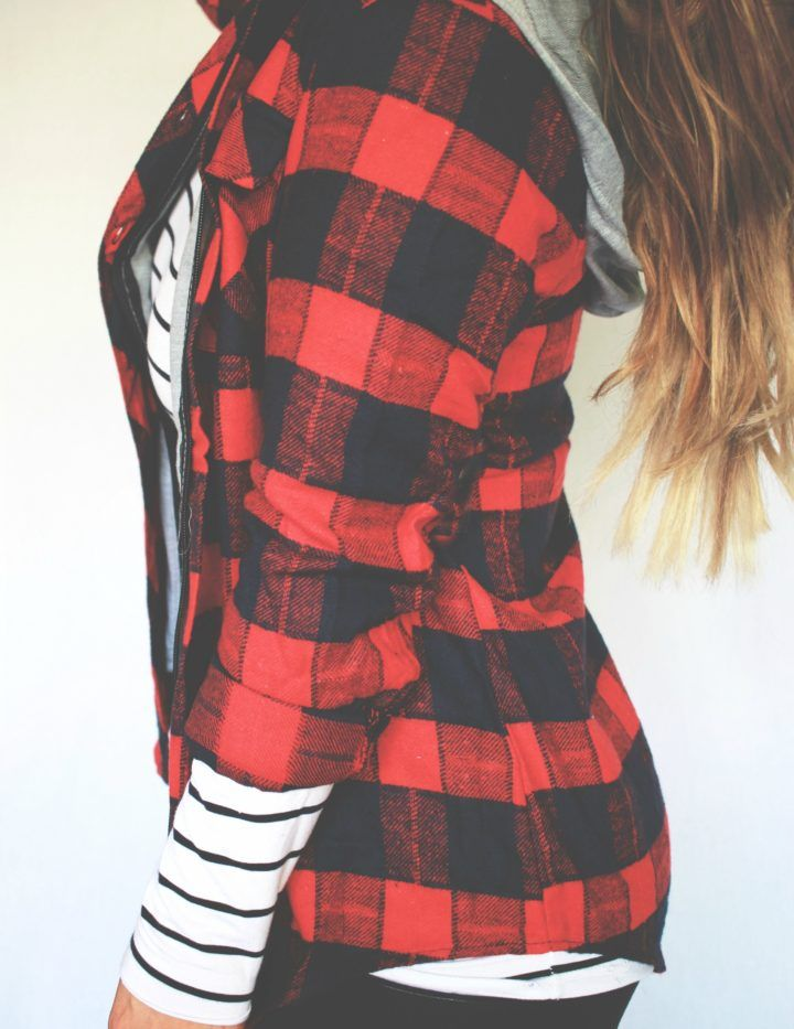 PLAID ZIP UP HOODIE // BUFFALO PLAID JACKET    PEBBYFOREVEE.COM // APPAREL + ACCESSORIES MADE IN THE USA
