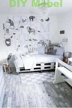 europallets cama móveis berçário menino adolescente branco