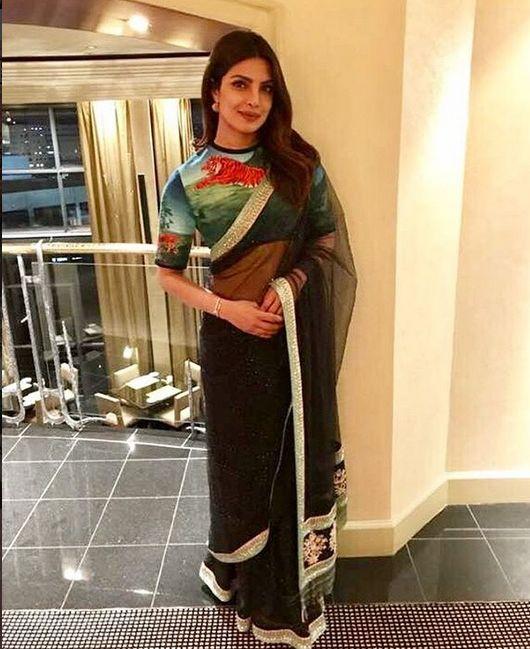 Priyanka Chopra In A Beautiful Sari