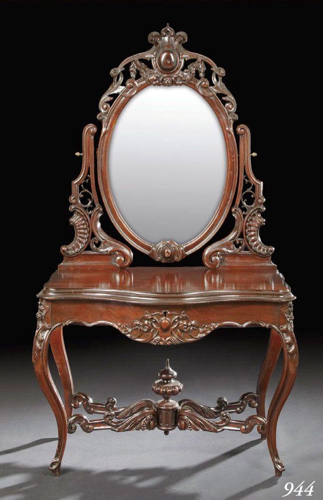 Victorian Rococo Furniture | Alexander Roux duchesse Rococo Revival Duchesse Top Victorian Lot
