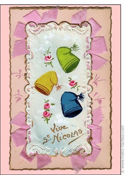#Carte #SaintNicolas #stNicolas Carte Bonnets de couleur Saint Nicolas pour envoyer par La Poste, sur Merci-Facteur !