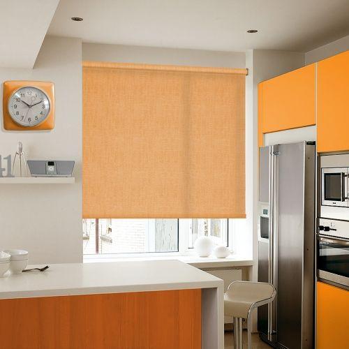 Ealing Orange Roller blinds