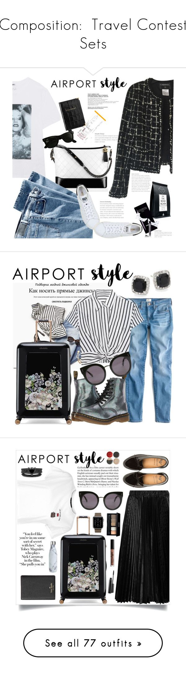 """""""Composition:  Travel Contest Sets"""" by jzanzig ❤ liked on Polyvore featuring Kenzo, Chanel, Spitfire, Aspinal of London, adidas Originals, Ray-Ban, Codage, travel, vacation and HowToWear"""