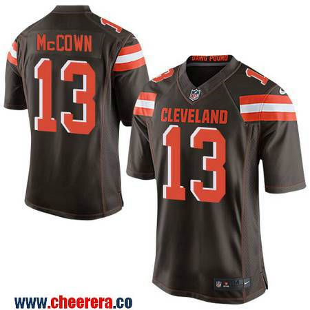f9e090b77 ... Mens Cleveland Browns 13 Josh McCown Brown Team Color Stitched NFL Nike  Elite Jersey Mens 2017 NFL Draft Cleveland Browns 27 Jabrill Peppers ...
