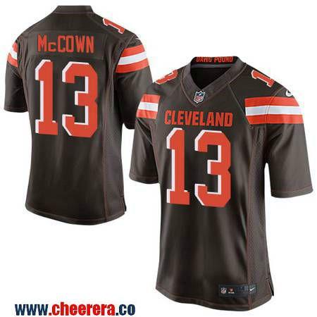 af43bbbb88d ... Mens Cleveland Browns 13 Josh McCown Brown Team Color Stitched NFL Nike  Elite Jersey Mens 2017 NFL Draft Cleveland Browns 27 Jabrill Peppers ...