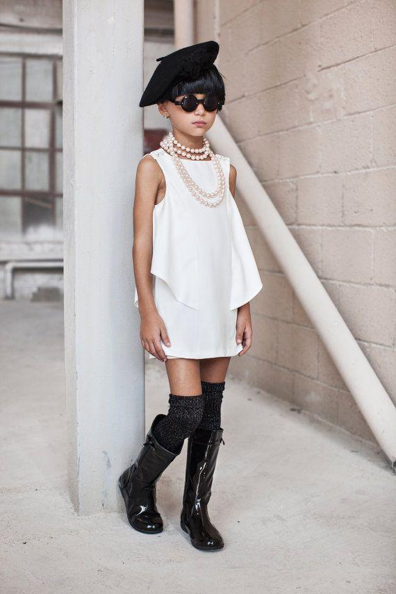 Blanc robe de fille de fleur filles robe de mariée par CatteliyaTT