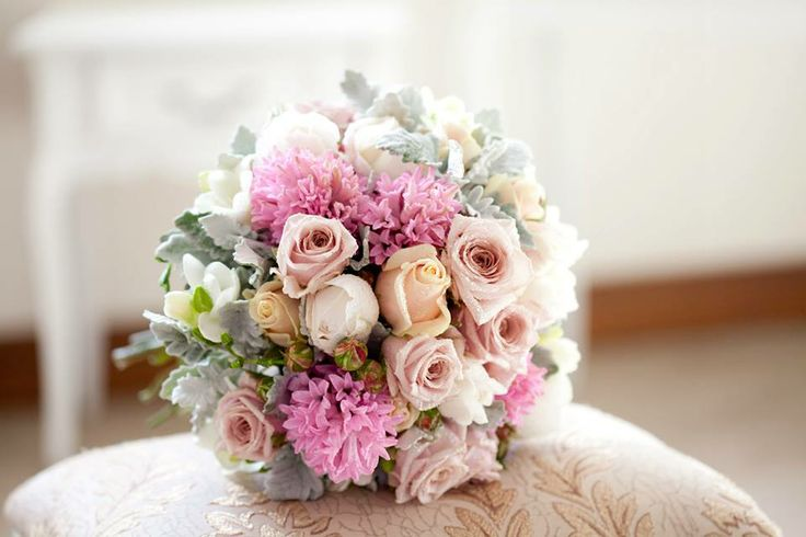 Kara's stunning bouquet...made up of soft pastels and scented blooms