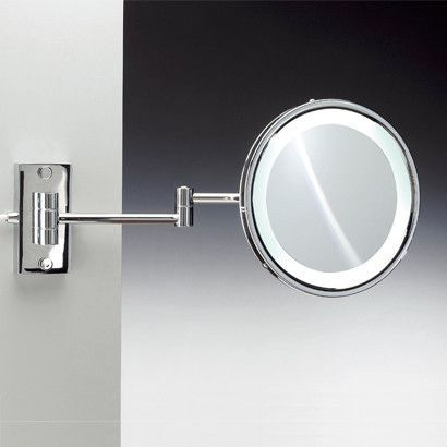 Fluorescent Light 3X Magnifying Mirror with Direct Wired Connection
