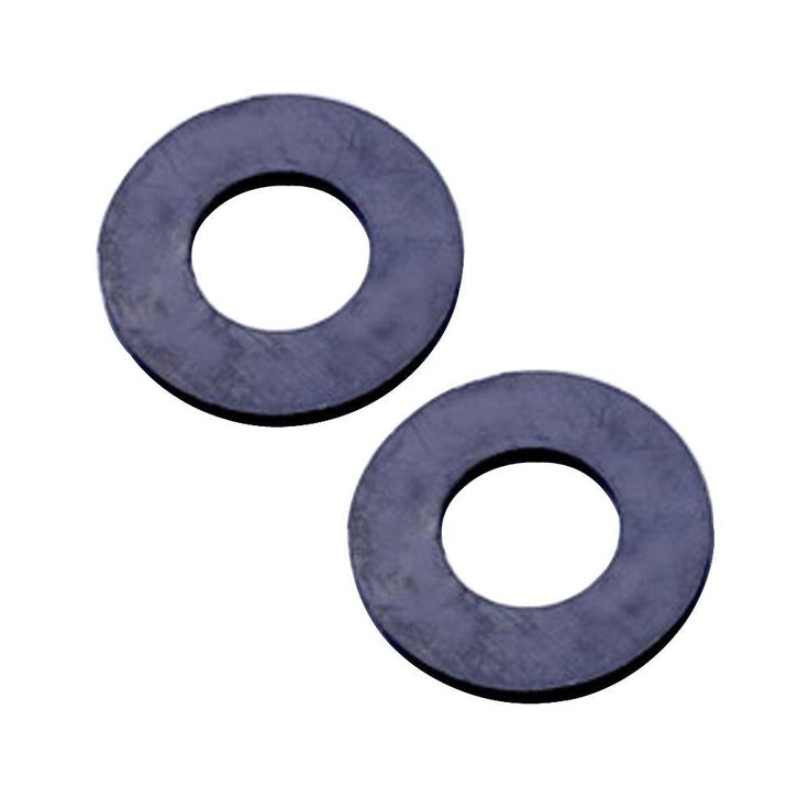 1.5 in. x 1.5 in. Replacement Black Rubber Grommets for Smart Sink Stopper (2-Piece)