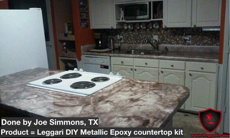 Metallic Countertop Paint : ... Countertop Resurfacing Kits on Pinterest Epoxy countertop, Metallic