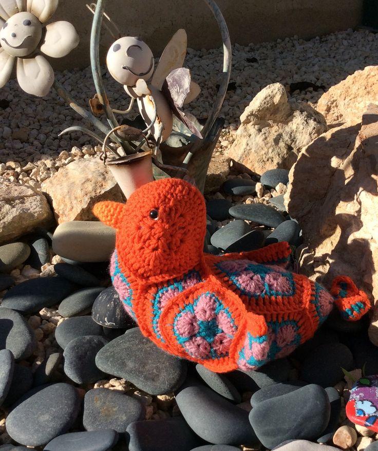 Heidi Bears African Flower Love Bird www.facebook.com/hookedonhandicrafts