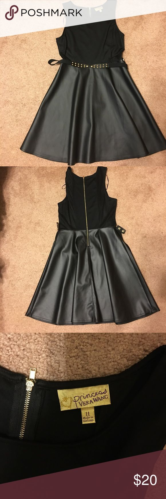 Skater style black dress Black skater style Vera Wang dress! Super cool! Worn once! Juniors size 11 Vera Wang Dresses Mini