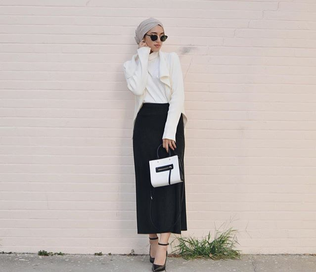 Skirt, shoes and bag on point #hijab #hijabbifashion #bag
