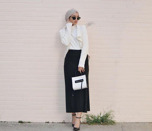 Skirt, shoes and bag on point #hijab #hijabbifashion #bag