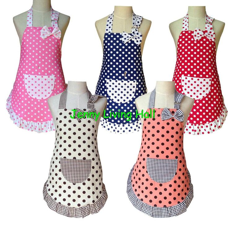 3 Sizes Apron Child Cute Cotton Polka Dots Apron Kids Apron for Painting Cooking Baking Party Apron 10pcs/lot-in Aprons from Home & Garden on Aliexpress.com | Alibaba Group