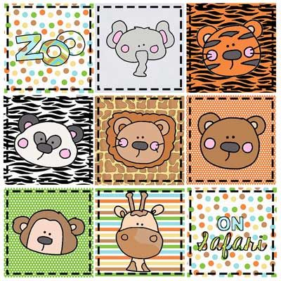 Faces at the Zoo Clipart