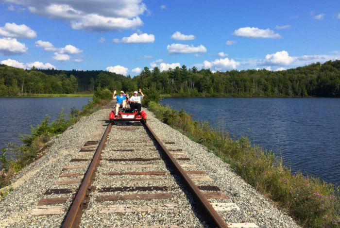 3. Go on a self-propelled railway excursion through stunning scenery.