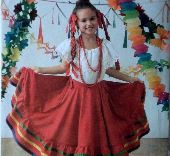 Child's Baile Folklorico Costume Pattern Simplicity 3863 ...