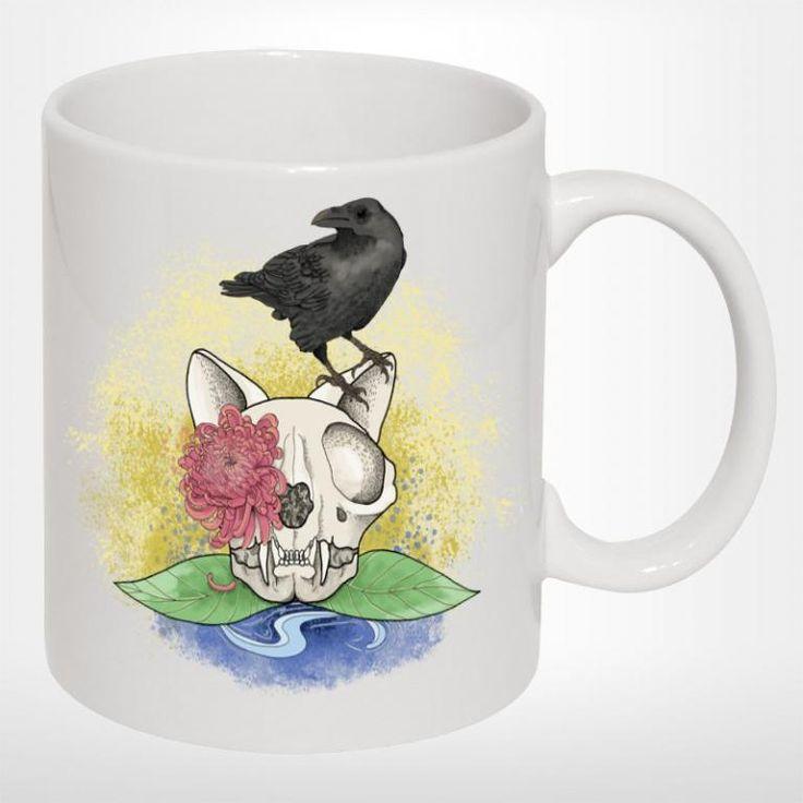 KOT PURR: Kubek ceramiczny SKULL CAT KOTY