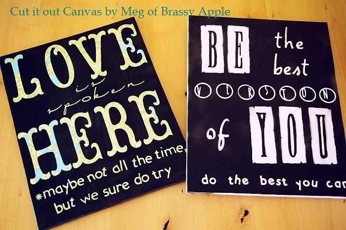 Canvas Ideas, Wall Art, Contact Paper, Canvas Art, Canvas Quotes, Canvas Tutorials, Diy Canvas, Cut Out, Crafts