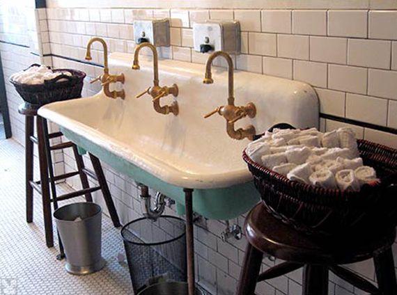Sink Vintage Porcelain Kitchen Pinterest Bathroom And