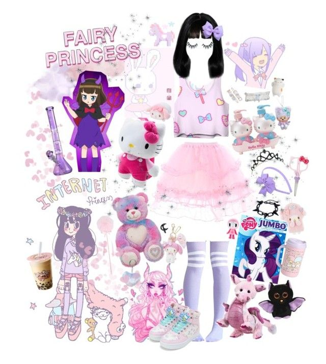 """""""succubus in training"""" by demonbabydoll ❤ liked on Polyvore featuring My Little Pony, Black Swan, Hello Kitty, RyuRyu, Reger by Janet Reger, Dorothy Perkins and Unicorn Lashes"""