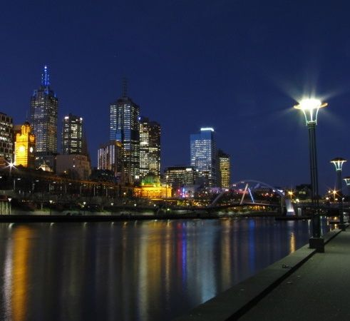 Melbourne, Australia at night!