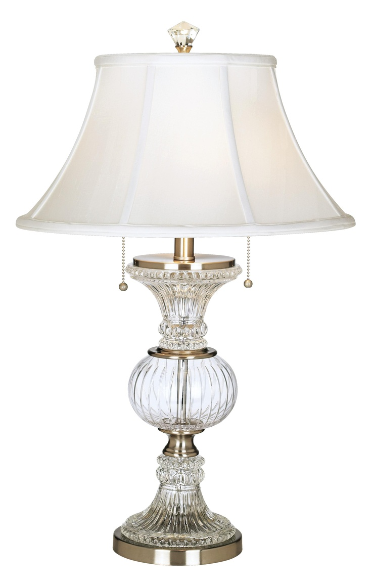 Wildwood brass and crystal beads buffet - Dale Tiffany Crystal Globe Table Lamp