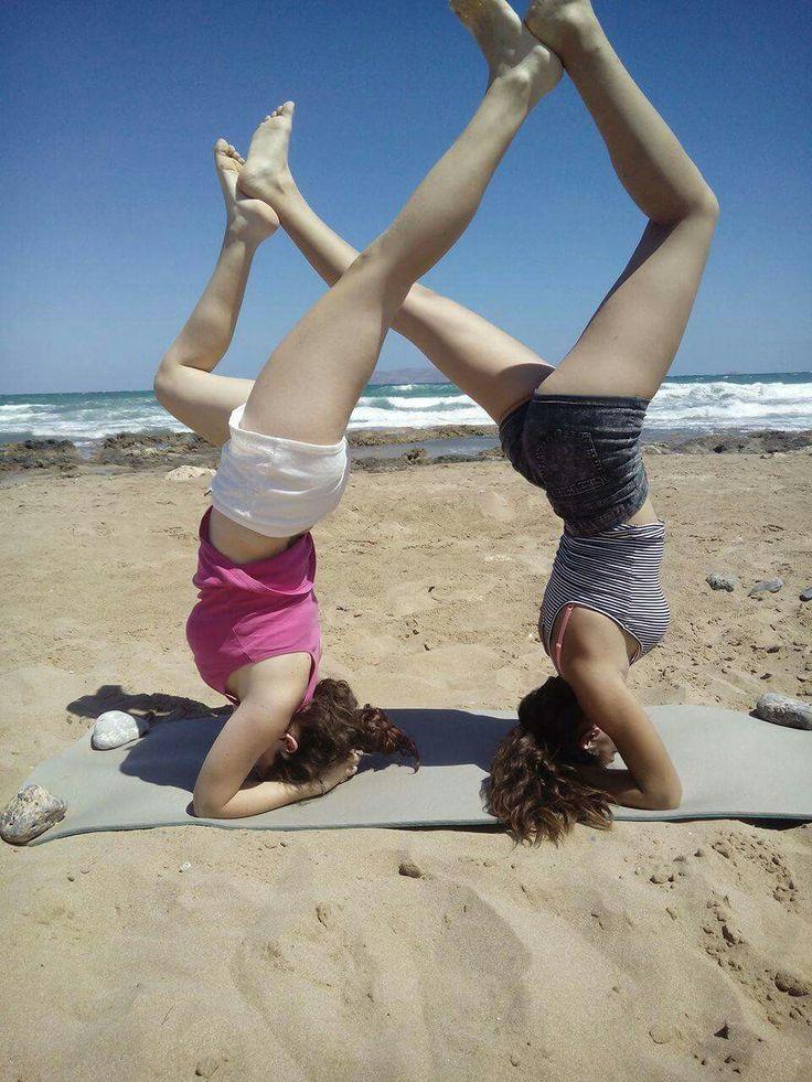 #yoga #infinite #summer #BFF #beach #fitness