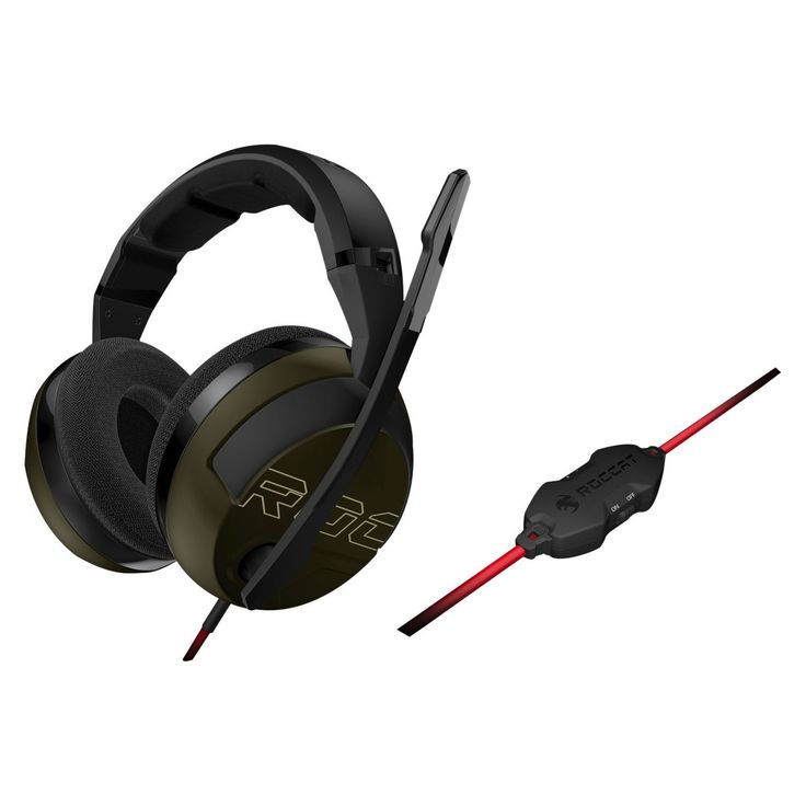 Roccat Kave XTD Headset - Stereo - Desert - Mini-phone - Wired - 32 Ohm - 20 Hz - 20 kHz - Over-the-head - Binaural - Circumaural - 8.20 ft Cable - Noise Cancelling, Omni-directional Microphone