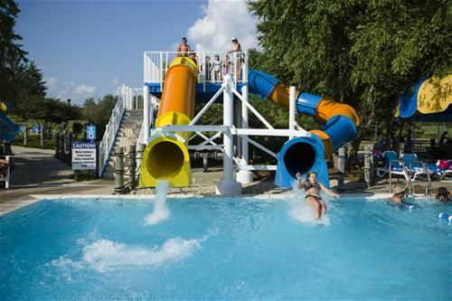 Centennial Park Aquatic Center Orland Park Il Lazy River Body Flume Drop Slides Tube